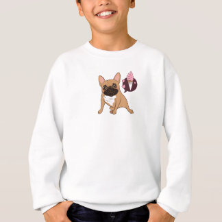 Golden Fawn French Bulldog wants an ice cream Sweatshirt