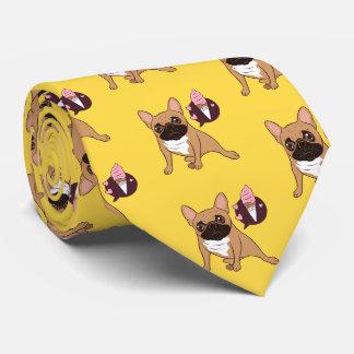 Golden Fawn French Bulldog wants an ice cream Tie