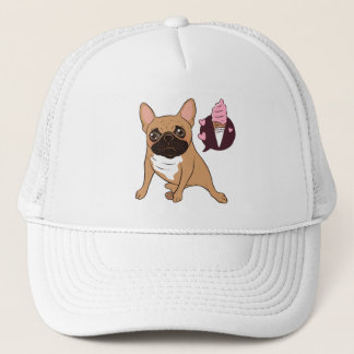 Golden Fawn French Bulldog wants an ice cream Trucker Hat