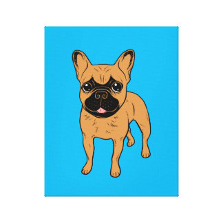 Golden Fawn Frenchie Canvas Print