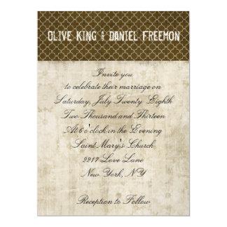 Golden Fawn White & Brown Ornate Wedding Invitatio 17 Cm X 22 Cm Invitation Card