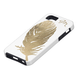 Golden Feather iPhone 5 Cases