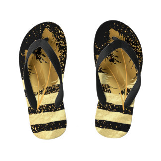 Golden Feather Kid's Thongs