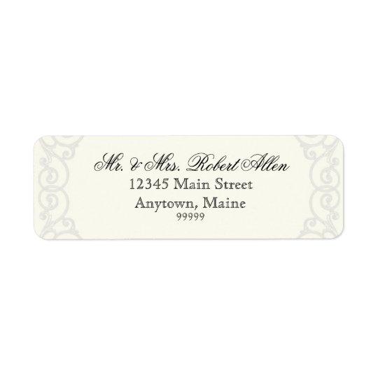 Golden Filigree, Grey - - Return Address Labels
