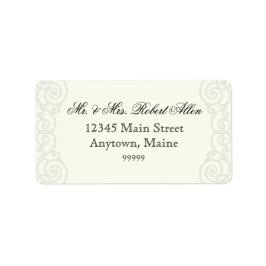 Golden Filigree, Grey - - Return Address Labels