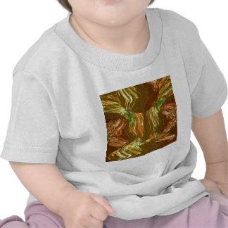 GOLDEN FIRE FLAMES: Decoration Healing Energy GIFT Tee Shirt