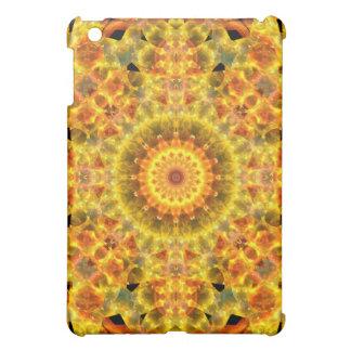 Golden Fire Mandala iPad Mini Case
