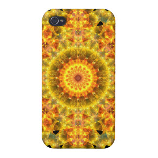 Golden Fire Mandala iPhone 4/4S Covers