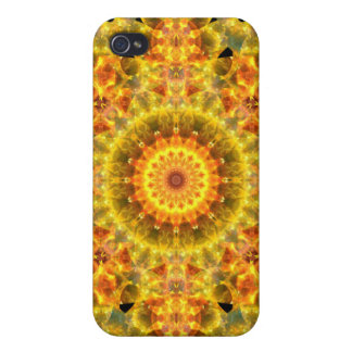 Golden Fire Mandala iPhone 4 Cover