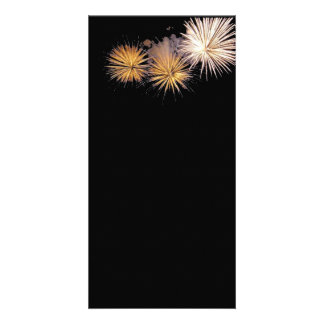 Golden Fireworks Personalized Photo Card