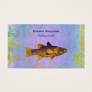 Golden Fish In Pen And Ink Vintage Design Business Card