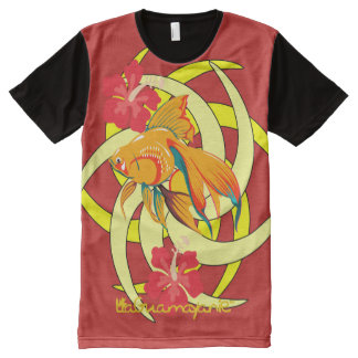 Golden fish news by LaGuamayanie© All-Over Print T-Shirt