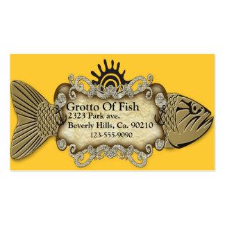 Golden Fish Parchment Paper Custom Color Business Cards