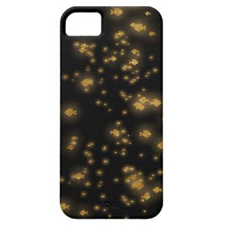 Golden Fishes Confetti Black Sea iPhone 5 Case