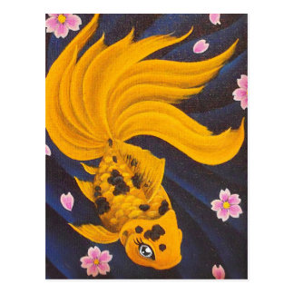 Golden Fishie Postcard