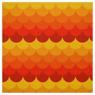 golden fishscale pattern koi fabric