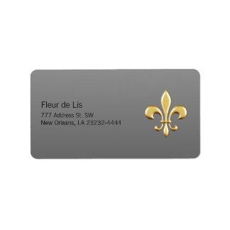 Golden Fleur De Lis Address Label