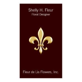 Golden Fleur De Lis Business Card Template