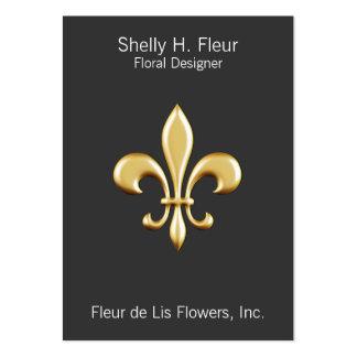 Golden Fleur De Lis Pack Of Chubby Business Cards