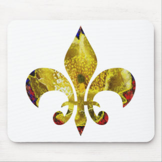 Golden Fleur-de-Lis ZazzleRocks Series Mouse Pad