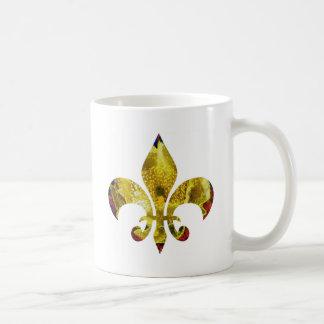 Golden Fleur-de-Lis  ;   ZazzleRocks Series Mugs