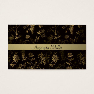 Golden floral business card