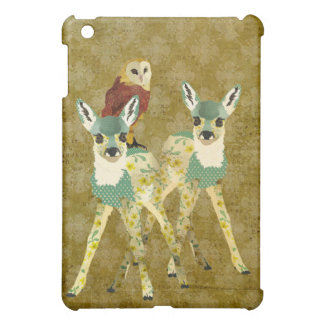 Golden Floral Fawns & Owl iPad Mini Case