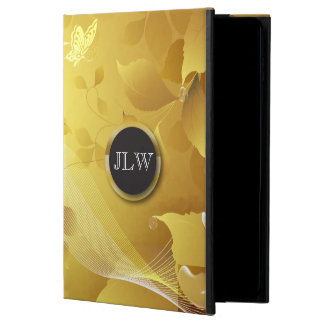 Golden Floral iPad Air 2 Case with No Kicks