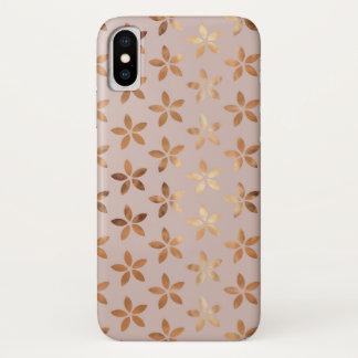 Golden Floral Pattern Iphone x  Case