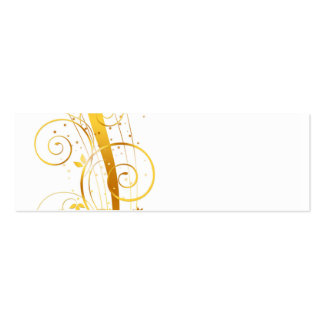 Golden florals christmas decor pack of skinny business cards