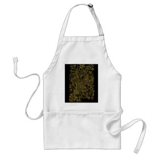 golden florals inlay style standard apron