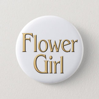 Golden Flower Girl button