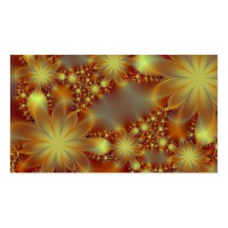 Golden flower lights business cards