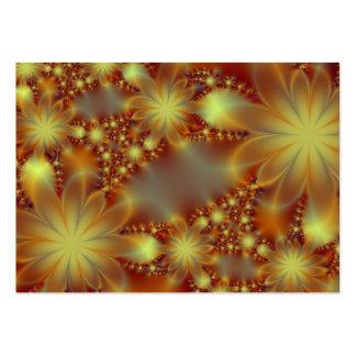 Golden flower lights business card
