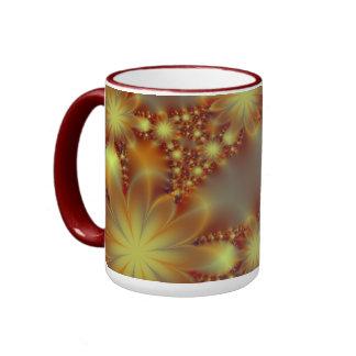 Golden flower lights coffee mug