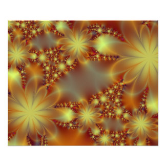 Golden flower lights photo