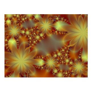Golden flower lights postcard