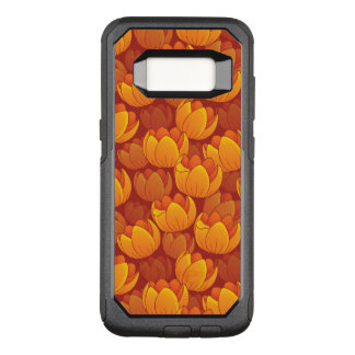 Golden Flower Pattern OtterBox Commuter Samsung Galaxy S8 Case