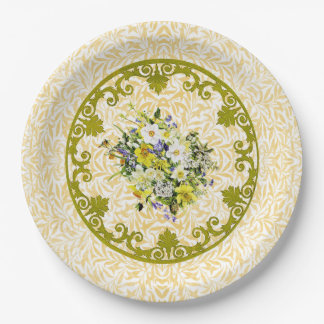 Golden Flower Plate