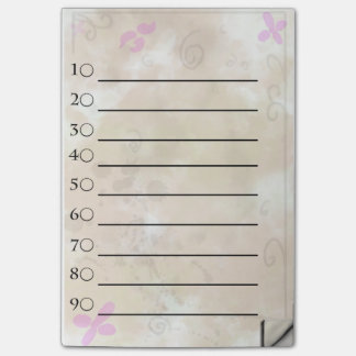 Golden flower to do list post-it® notes