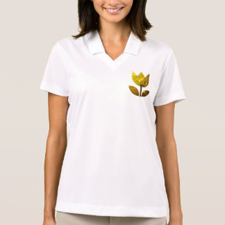 Golden flower with water drops T-shirt
