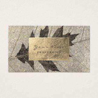 Golden Foil  Urban Organic Botanical Black Maple Business Card