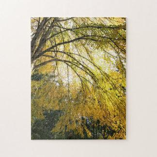Golden Foliage Jigsaw Jigsaw Puzzle