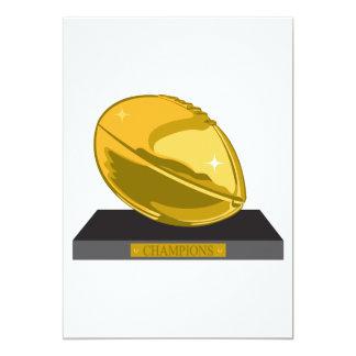 golden football champions 13 cm x 18 cm invitation card