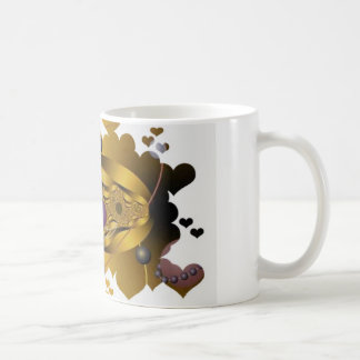 Golden Fractal Basic White Mug