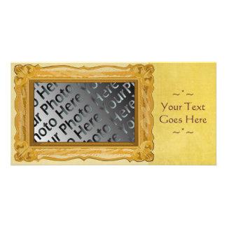 Golden Frame Photo Card