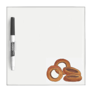 Golden Fried Onion Rings Junk Fast Food Foodie Dry Erase Board