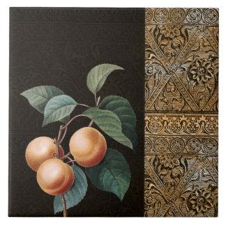 Golden Fruit Large Square Tile