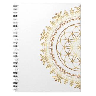 Golden Fruit of Life Mandala Notebook