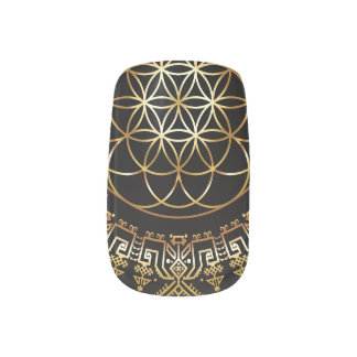 Golden Fruit of Life Nail Decals